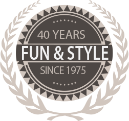 Fun & Style for 40 Years Since 1975 Seal