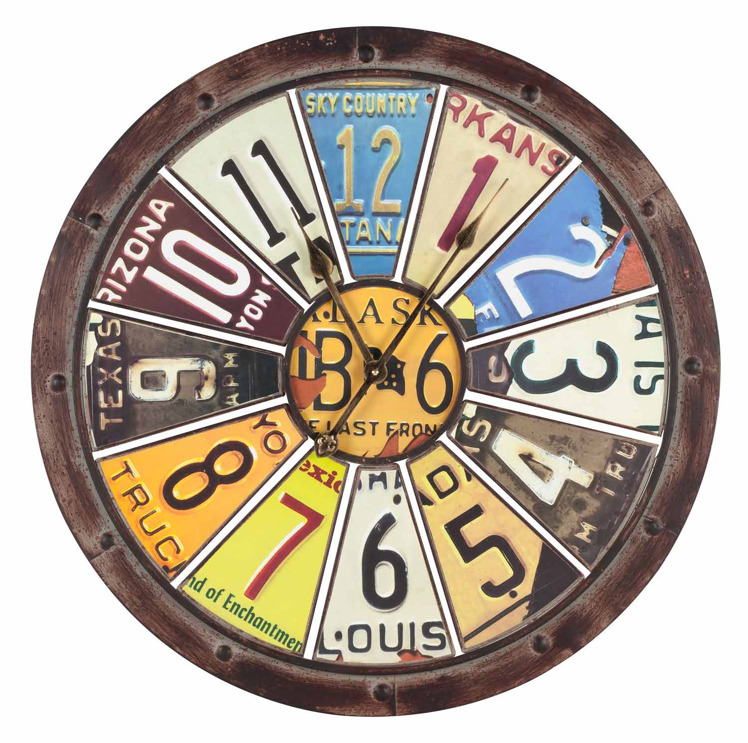 license plate wall clock. Black Bedroom Furniture Sets. Home Design Ideas