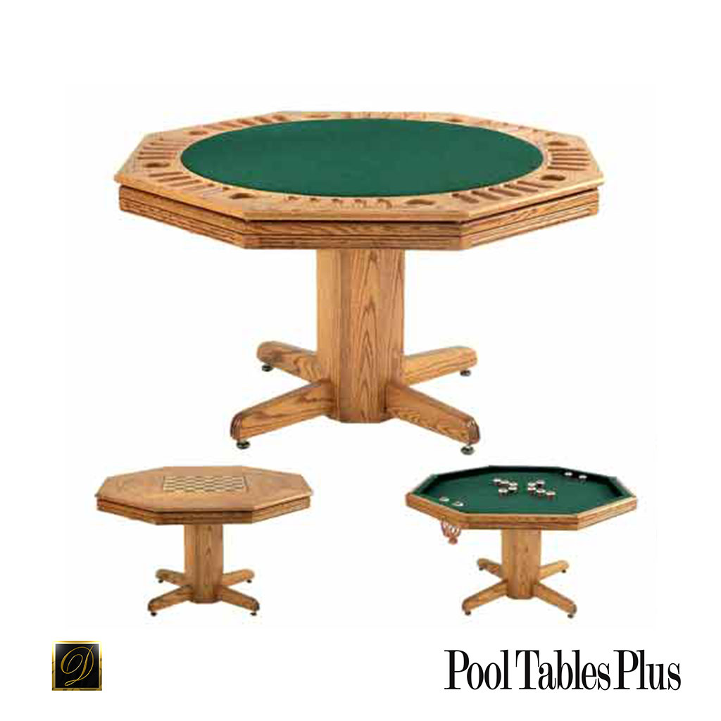 Reno Flip Top Game Table With Reversible Poker And Dining