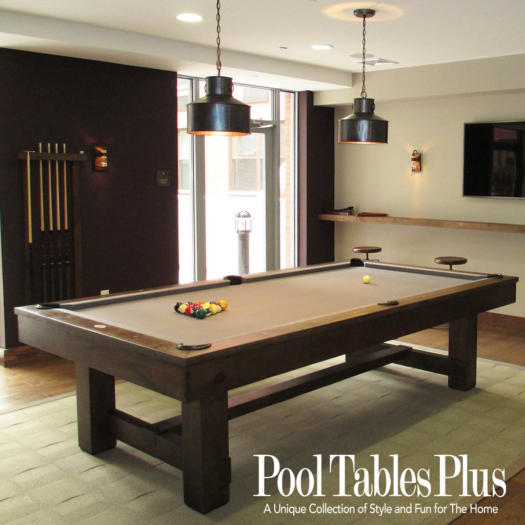 Rhinebeck Pottery Barn Style Pool Table - Rustic modern pool table