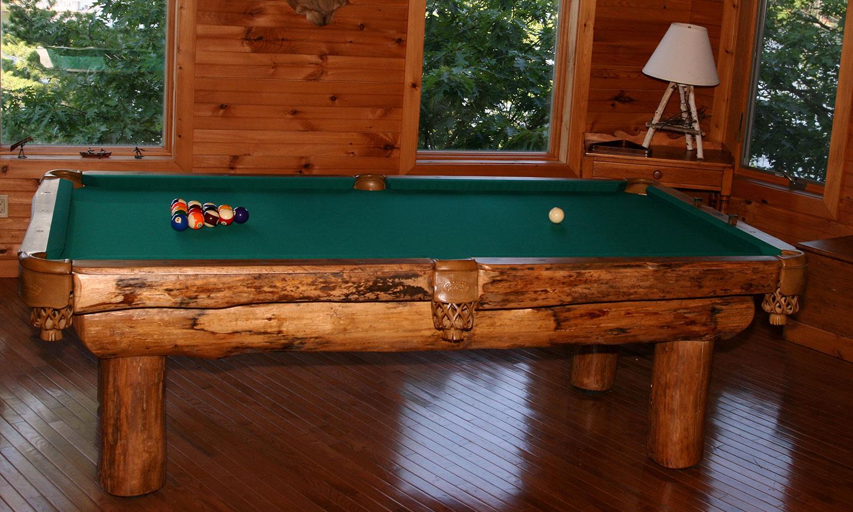 Olhausen Ponderosa Rustic Pool TableShop Olhausen Pool Tables - Ponderosa pool table