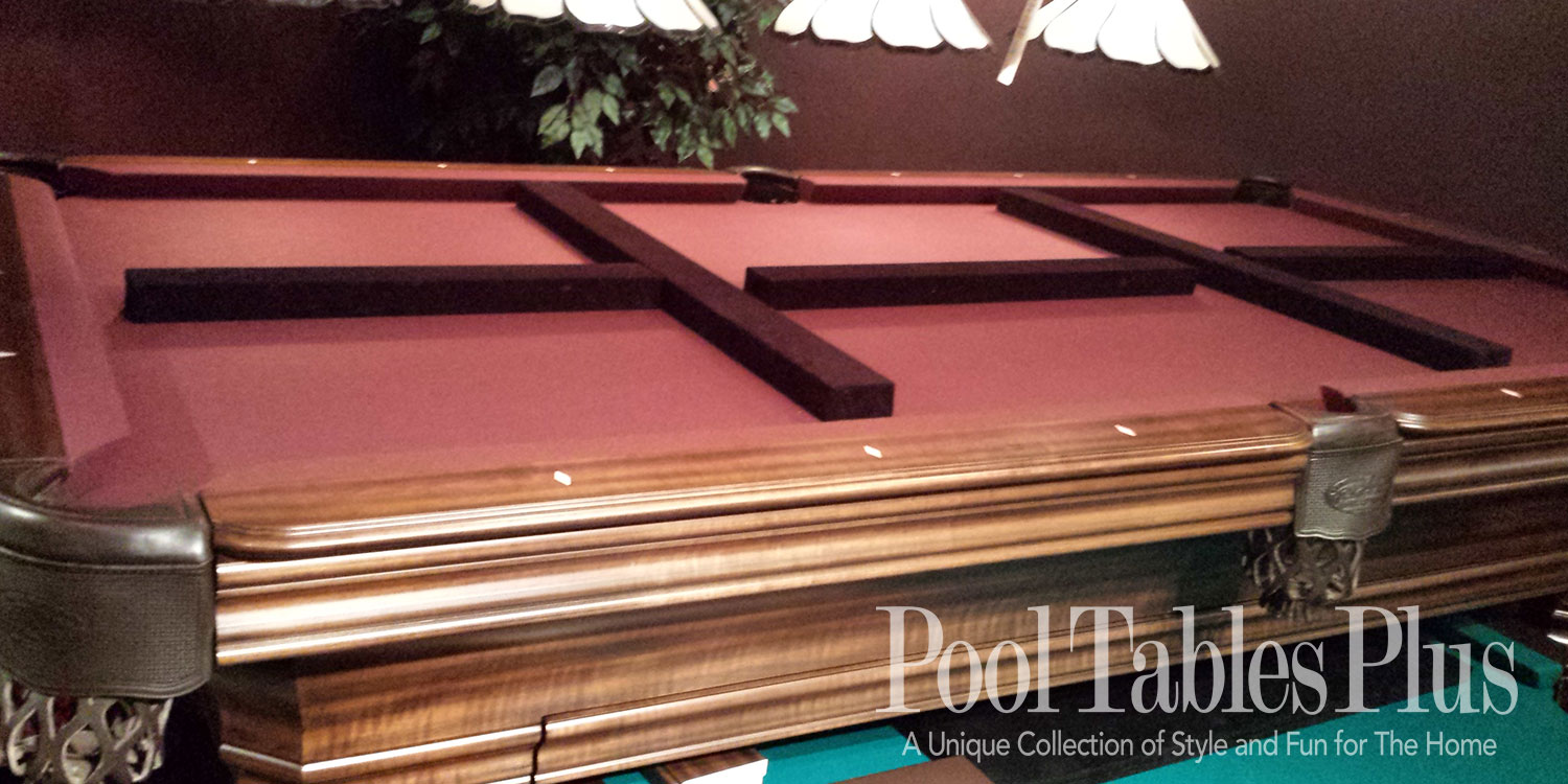 Pool Table Dining Top - Red top pool table