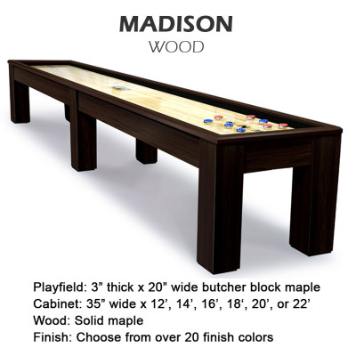 Madison Wood Shuffleboard