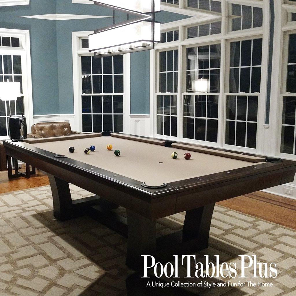 Superb City Lights Custom Pool Table