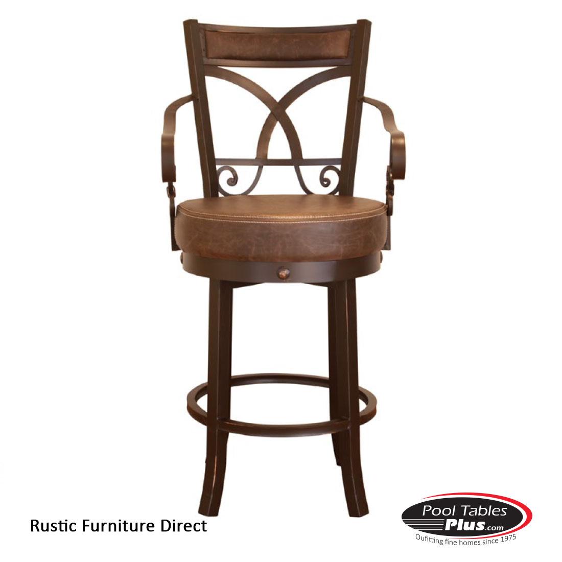 Rustic Swivel D94 Barstool