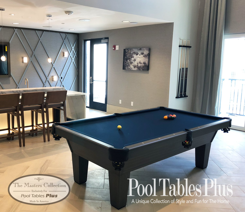 Montauk Grey Pool Table