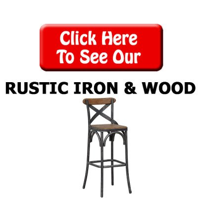 Rustic Iron/Wood Bar Stools