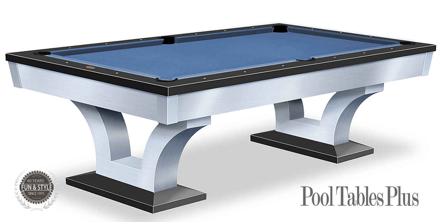 Bellagio Brushed Stainless - Bellagio pool table