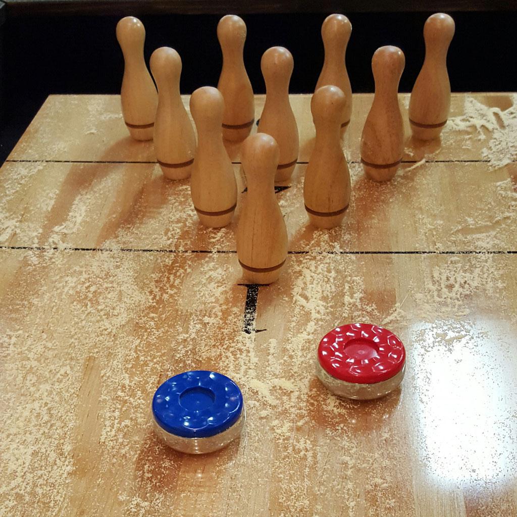 Shuffleboard Bowling Pins Amp Setter