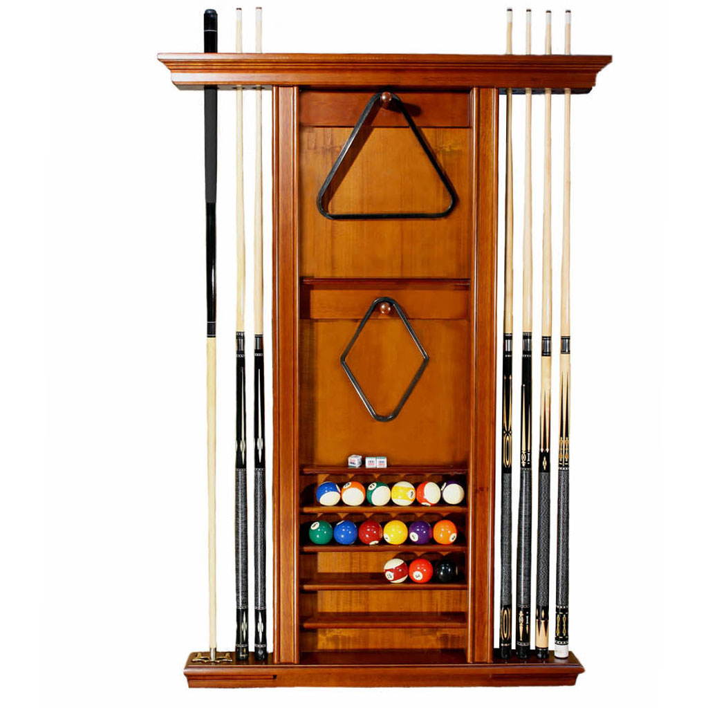 holds rack product pool black poolcuerack bell cue stick mount wall