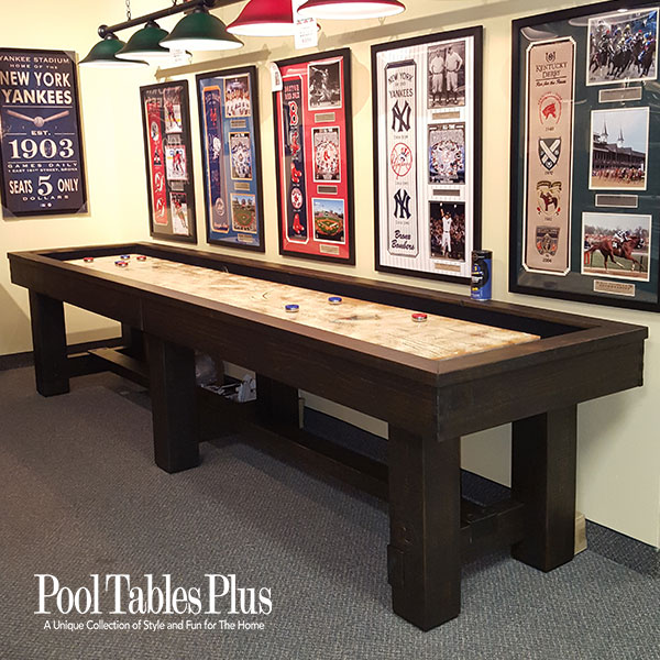 Pottery Barn Shuffleboard Table - Rustic modern pool table