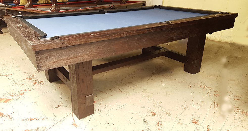 This Pottery Barn style pool table is made in China just like the one sold  on the Pottery Barn web site  Their table sells for over  6 000 while you  can buy. Pre Owned Pool Tables   Game Room Furniture