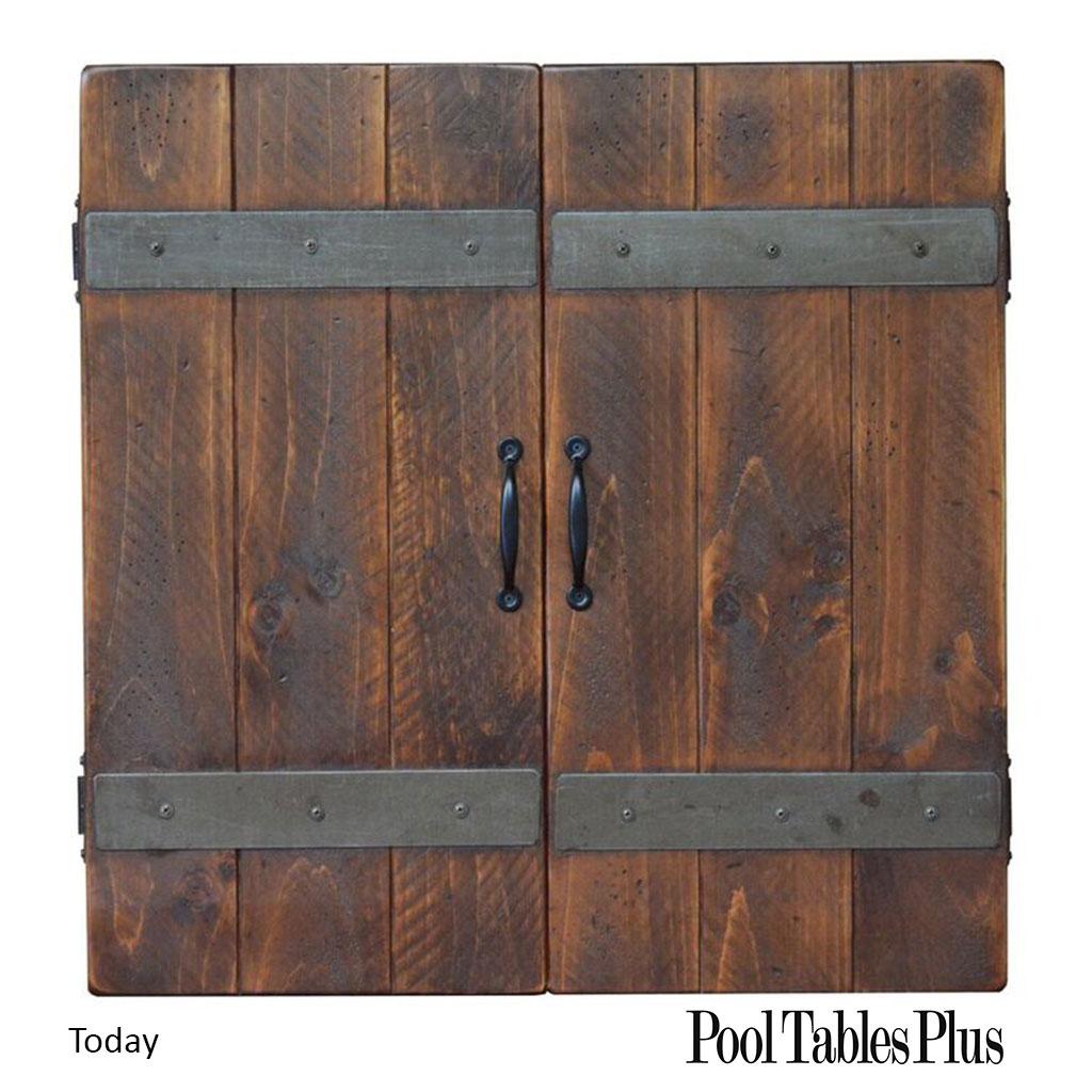 Rustic Barn Door Dart Cabinet