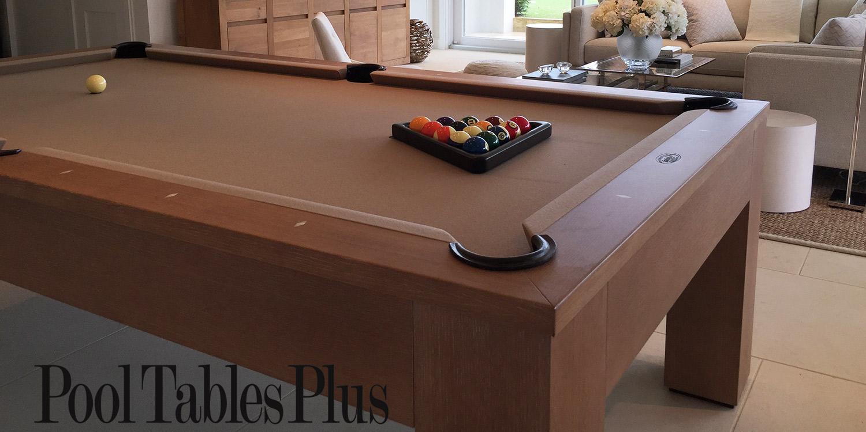 White Oak Madison Pool Table - White billiard table