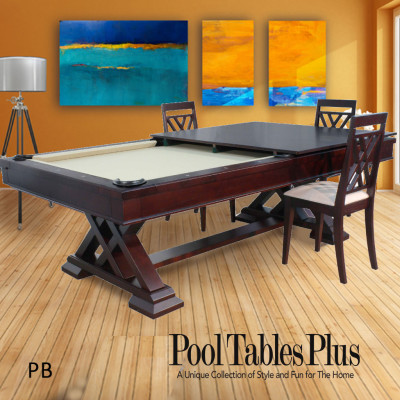 Dining pool table combo for 12 in 1 combination table