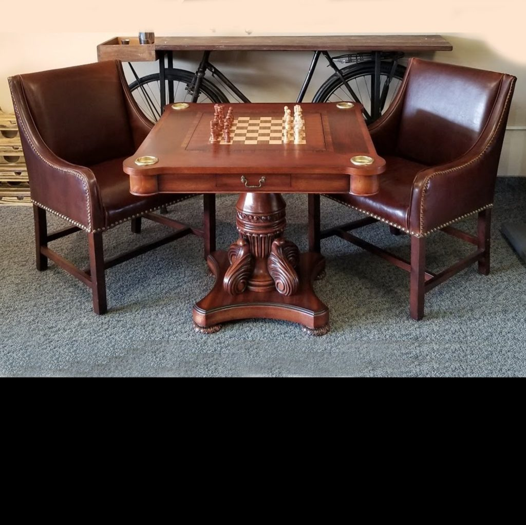 Chess/Backgammon/Dining Table & Chairs