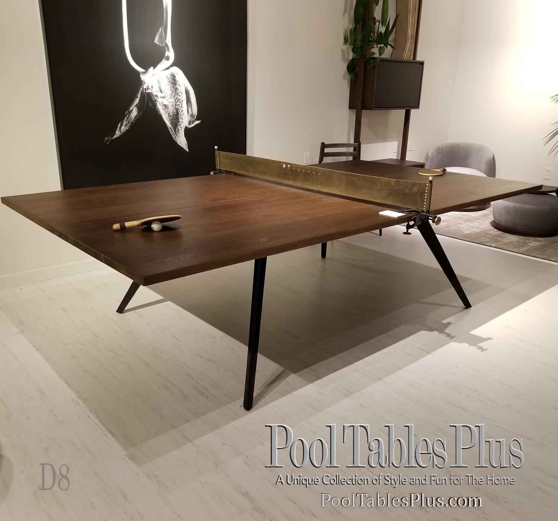 Ping Pong Table Fumed Oak