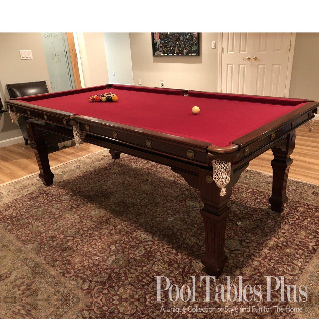 8′ English Snooker Table
