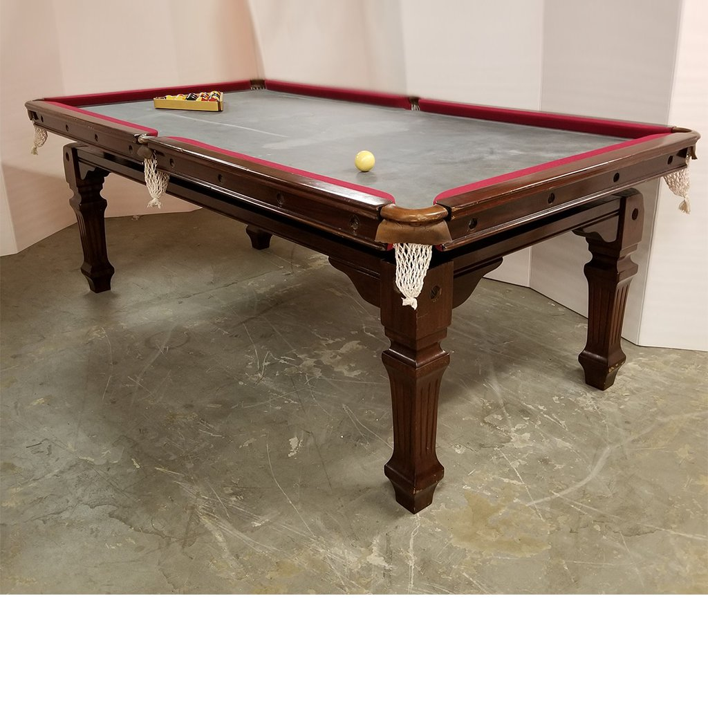 7′ English Snooker/Dining Table